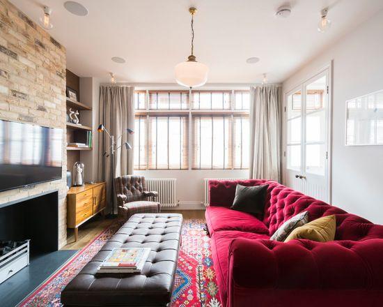 16 große Wohnzimmer Design und Dekor Ideen mit Samt Möbel   neuedekorationsideen   Minimalist ...