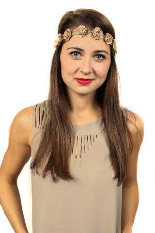 Savoir-Faire : White VidaKush Floral Headcrown #VidaKush #hemp #flowercrown
