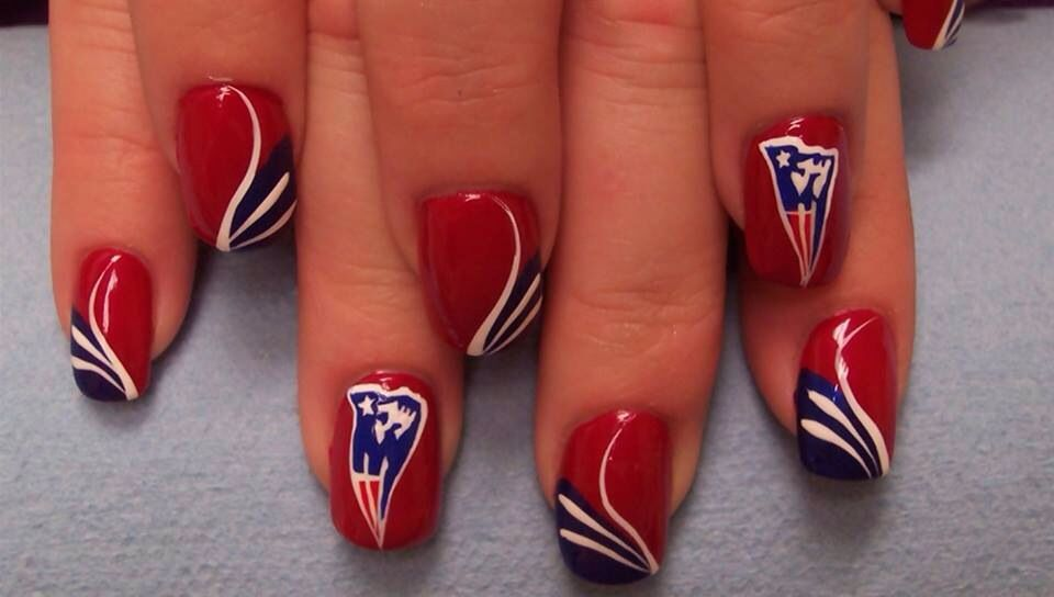 Only sharing cause my son loves the New England Patriots | Nails ...