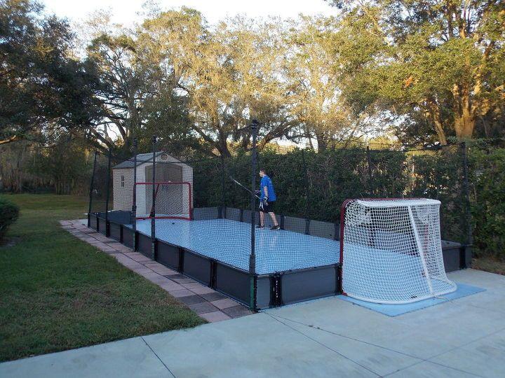 Home sports fitness courts backyard backyard hockey