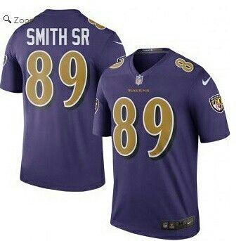 658e6af39ef Steve Smith Sr Men's Baltimore Ravens Nike Purple Color Rush Legend Jersey