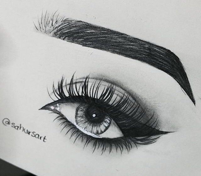how to draw pretty eyes