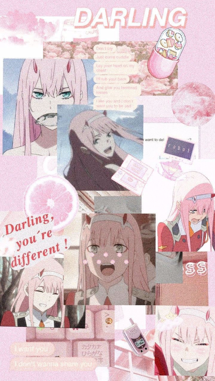 Zero Two Darling In The Franxx Anime Wallpaper Iphone Anime Wallpaper Cute Anime Wallpaper
