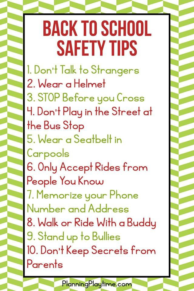 Safety Tips Every Kid Should Know Safety tips, School