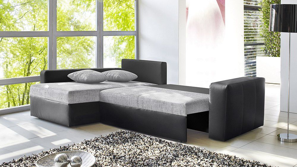 couch 1 anthrazit grau ausgezogen wohnzimmer. Black Bedroom Furniture Sets. Home Design Ideas