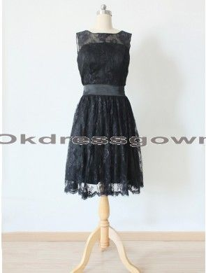 Off Shoulder Short Lace Affordable Elegant Black Bridesmaid Dress