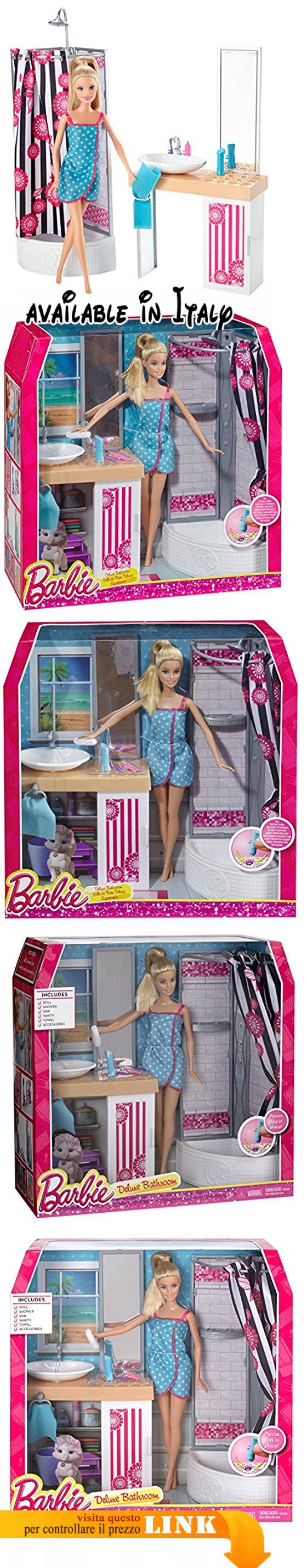Barbie CFB61 - Bambola Barbie e i Suoi Arredamenti, Bagno. Selezione ...