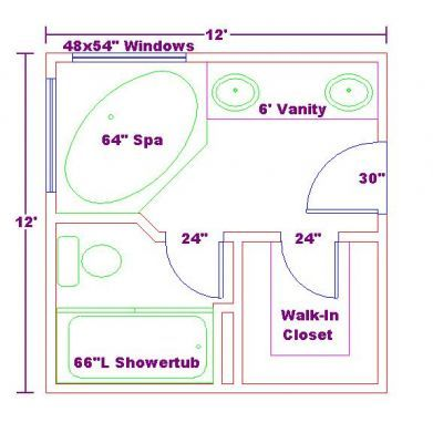Master Bathroom Floor Plans Walk In Shower Free Bathroom Plan Design Ideas Master Baths 12x12 Addition Plan Badezimmer Grundriss Badgestaltung Grundriss