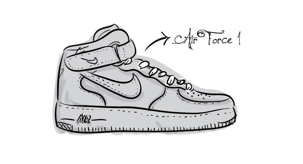 bc4005f71a2a6 chaussure nike dessin