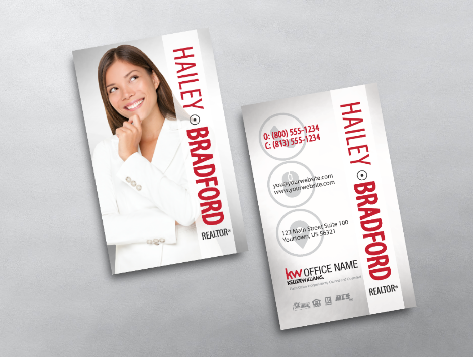 Our Bright Clean Keller Williams Business Card Template Is Sure To Impress Wi Keller Williams Business Cards Realtor Business Cards Business Card Inspiration