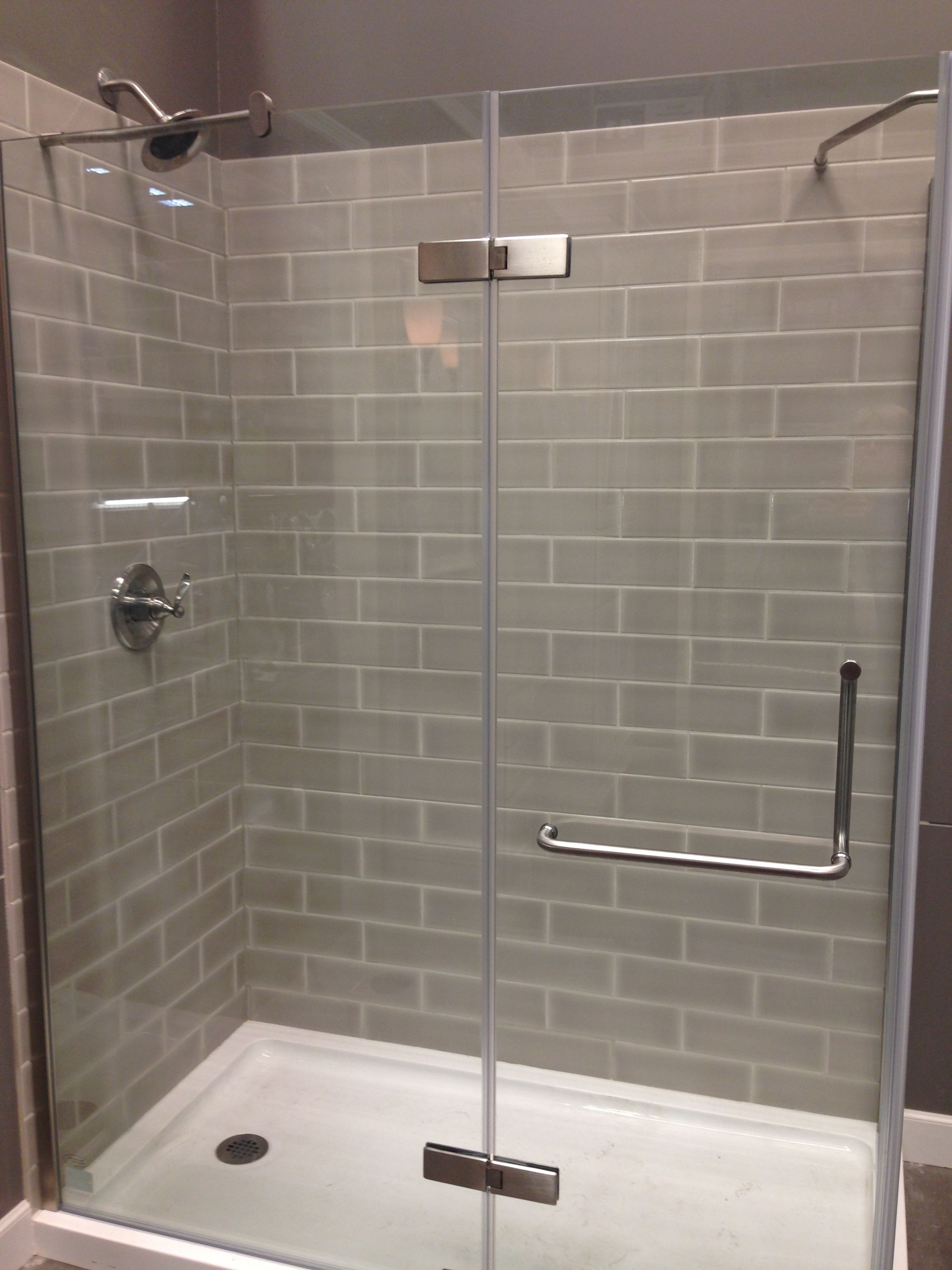 Shower Design With Clear Glass Tiles Shower Remodel