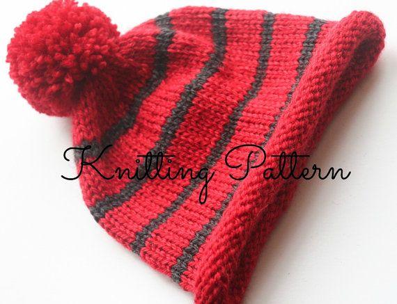 Aran Pom Pom Baby Hat Knitting Pattern Easy To Knit Instant