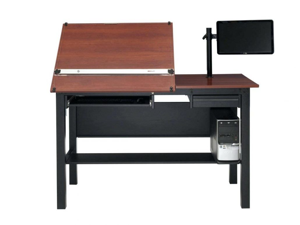 Superbe Drafting Table Computer Desk Combo