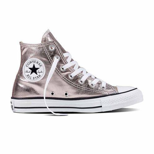 66fc1797738adb Converse Damen Chuck Taylor All Star High Sneaker Metallic Canvas Rose  Quartz