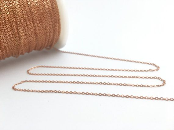 Raw Brass Thin Cable Chain 1.5x2mm Soldered