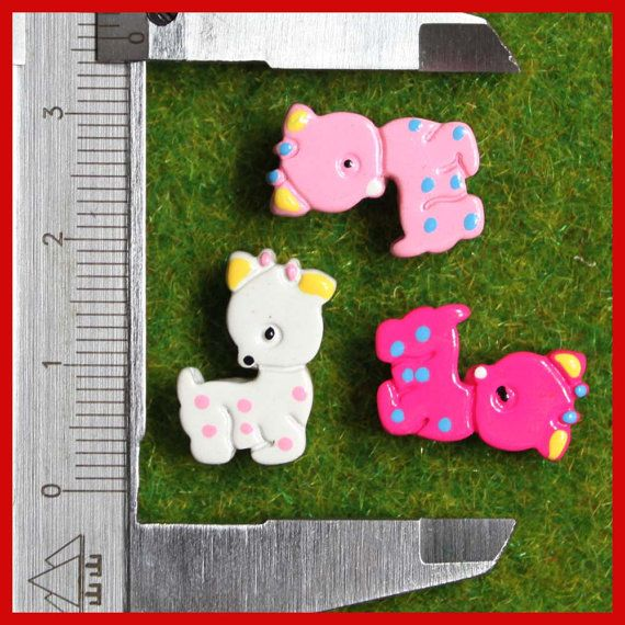 SALE 6 pcs mini flat back resin rain deer mixed by AboveDeluxe, $1.00