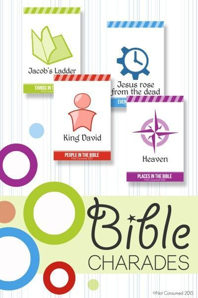 Our family loves charades, especially Bible charades, but we often have a hard time thinking of things to act out. Problem solved. These Bible charades printable cards are sure to be a crowd pleaser!