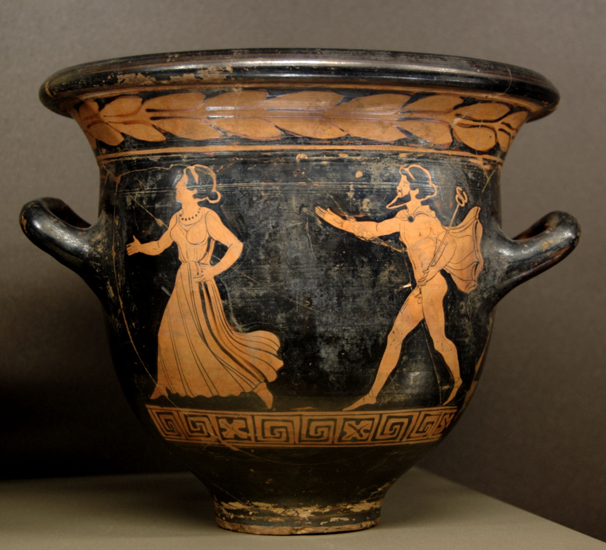 Hermes pursuing a woman bell krater by the dolon painter circa hermes pursuing a woman bell krater by the dolon painter circa 39080 ancient greek reviewsmspy