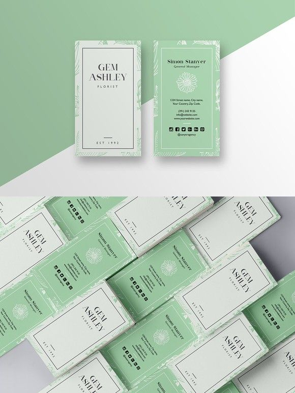 Stylish florist business card Business Card Templates - florist resume
