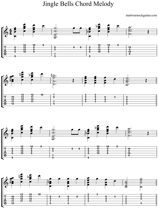 Jingle Bells Guitar Chords 8 | Guitar Music | Pinterest | Guitar ...
