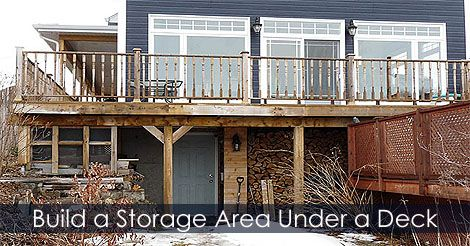How to build a Storage Area under a deck. http://www.usa ...