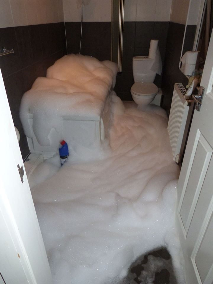 This is what happens when you put too much bubble bath in your bath ...
