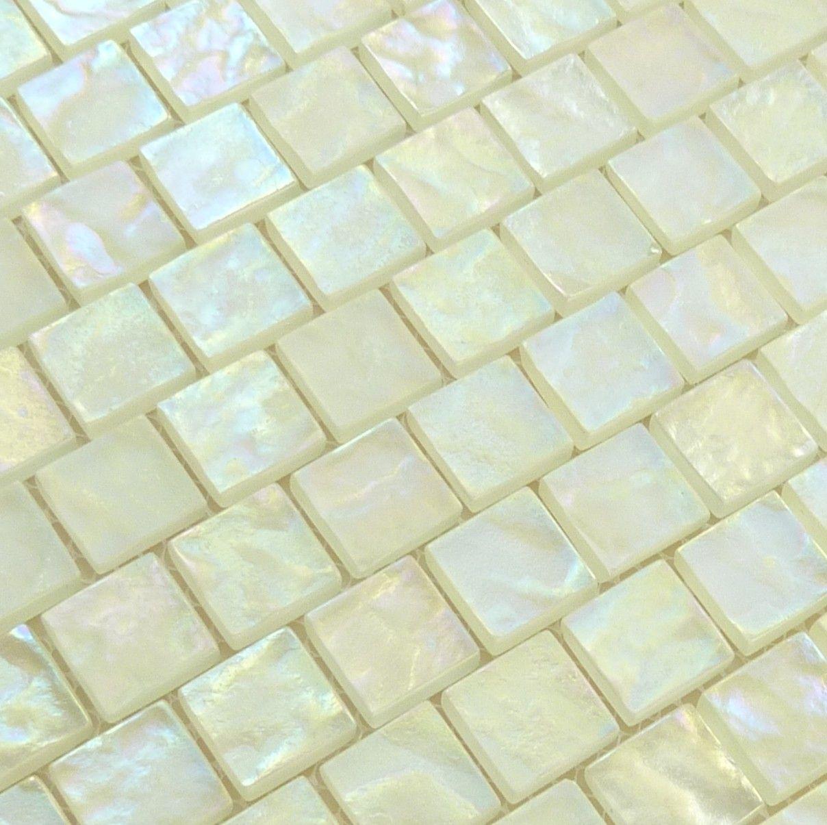 1 X 1 White Glass Square Tile Matte Iridescent 520 643 Iridescent Tile Iridescent Glass Tiles White Glass