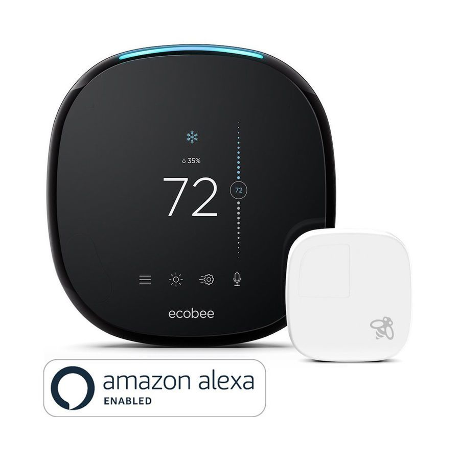 Details About Ecobee4 Wi-fi Thermostat With Room Sensor And Built-in Amazon Alexa