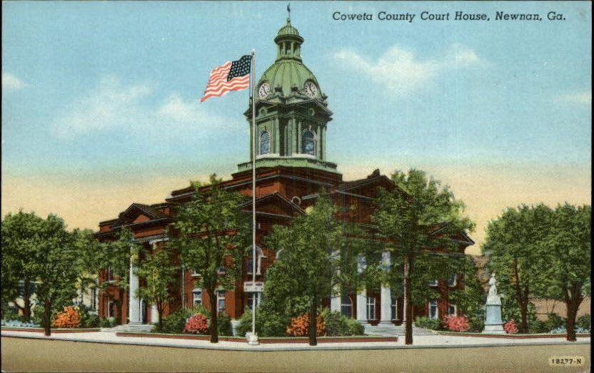 Newnan Ga Court House Postcard Ebay Newnan Postcard Courthouse