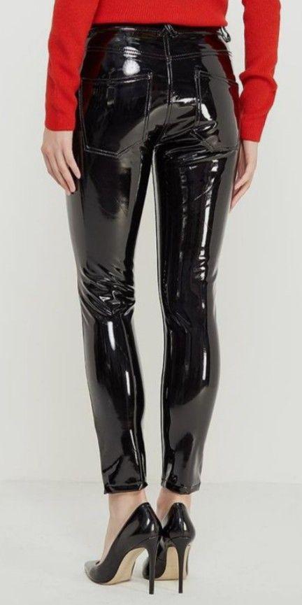 ca8e4d0e5f0ee Pin by John on Leather pants | Leggings are not pants, Latex pants, Pvc  vinyl