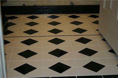 Black And White Tile Floor 4x4 Black And White Tile Bathroom Floor Photo Img 5398 5 1 Jpg Black And White Tiles Bathroom Tiles White Tile Bathroom Floor