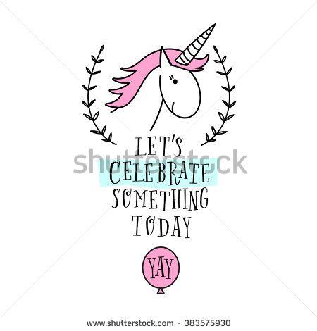 Happy Birthday Card With Unicorn Baby Shower Invitation Card Design