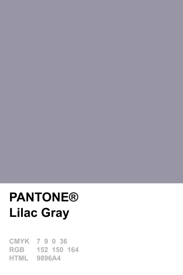 Pantone Lilac Gray Colour Palettes