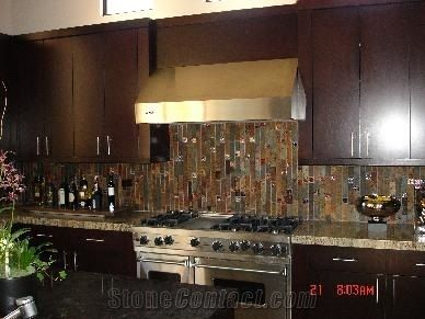 Rust Slate Backsplashes Kitchen Design
