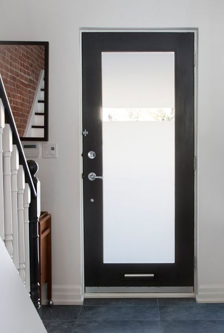 Frosted Glass But Without The Clear Strip And Ideally Divided Into 3 Or 4 Panels Entry Doors With Glass Aluminium Glass Door Exterior Doors With Glass