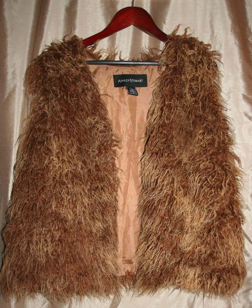 Boho Hippie Style Faux Fur Vest Size 2x by Ashley Stewart #AshleyStewart #Vest