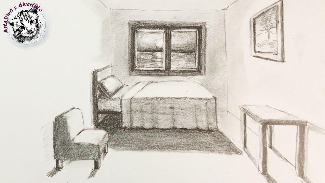 Como Dibujar Una Habitacion En Perspectiva De Un Punto Muy Facil Y Paso Perspectiva De Un Punto Dibujos De Habitaciones Como Dibujar En Perspectiva