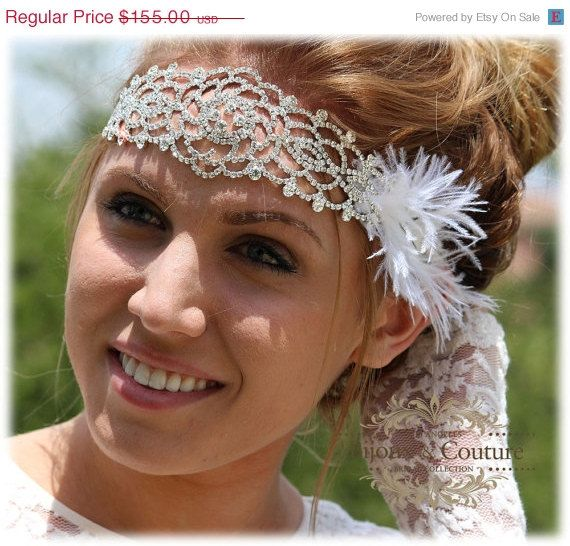 Jamaican Wedding Hairstyles: # Bridal Headband, Rhinestone Headband, Wedding Accessory