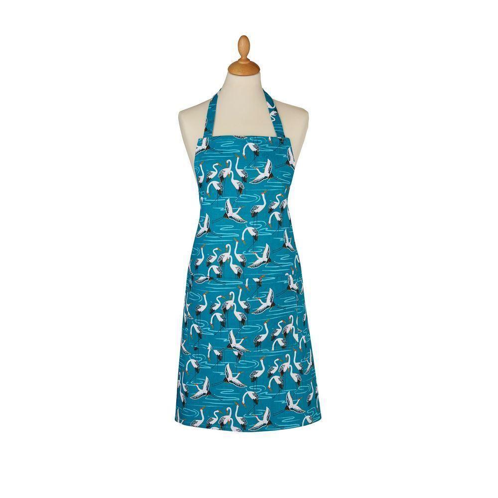 Ulster Weavers Cotton Apron - Cranes (100% Cotton, Blue)