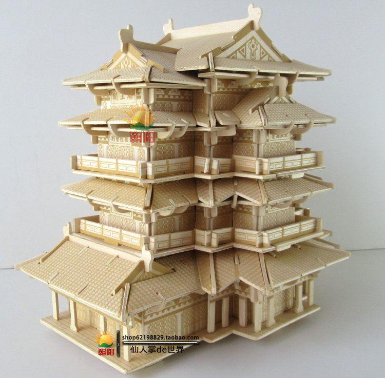 3d Wooden Puzzles Creative Diy House Handmade Assembled