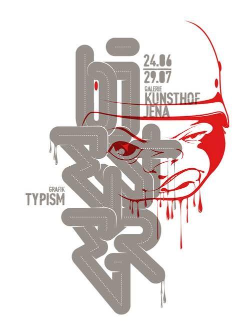 Typism poster by Michael Schinköthe for Partisan Vodka