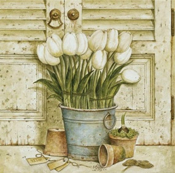 White Tulips  Cross stitch pattern pdf format by diana70 on Etsy, $6.50