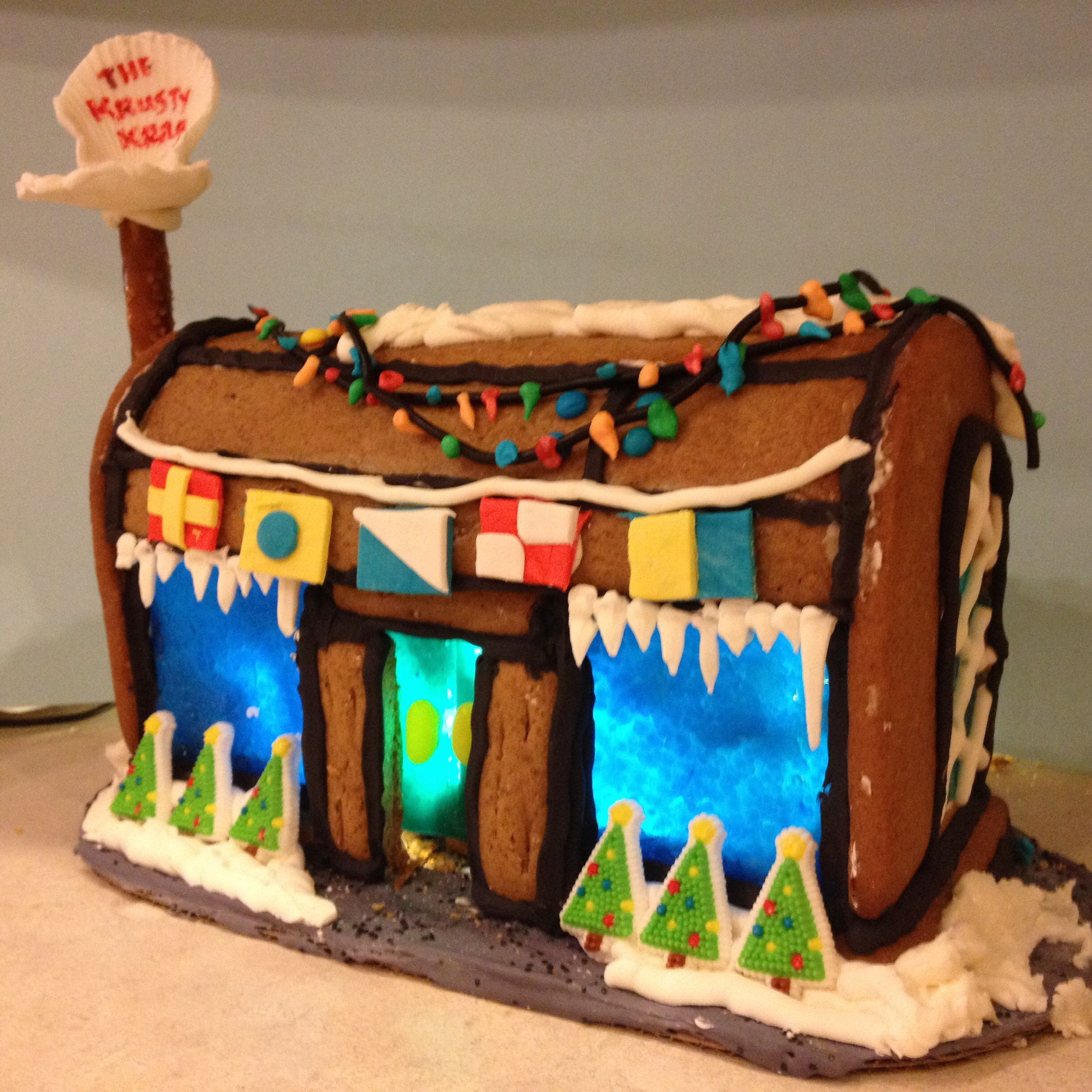 Beach Themed Gingerbread House: A SpongeBob Theme This Year-gingerbread Houses
