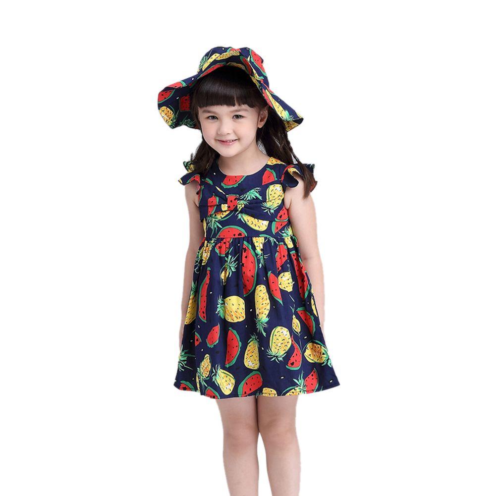 European style summer baby girl dress cute sleeveless watermelon