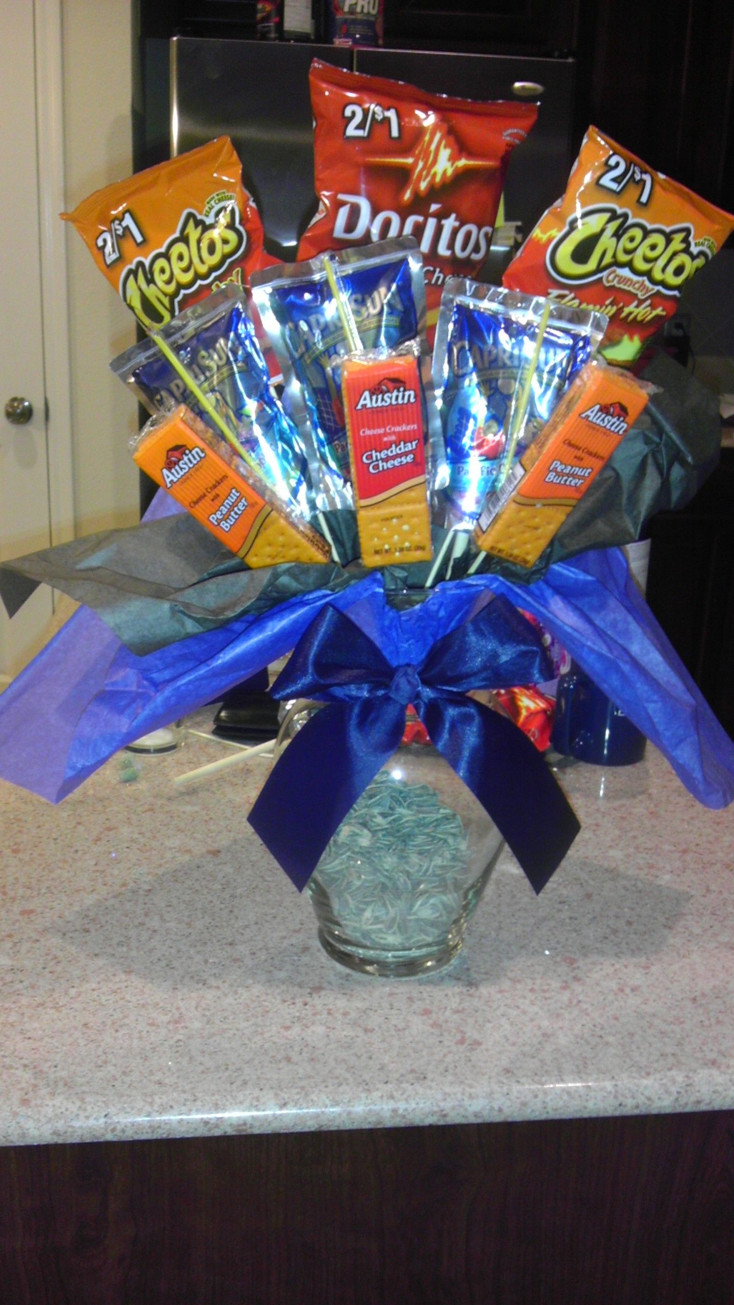 Snack Bouquet Handcrafted By Yours Truly Pinterest Snacks Candy Bouquet And Gift