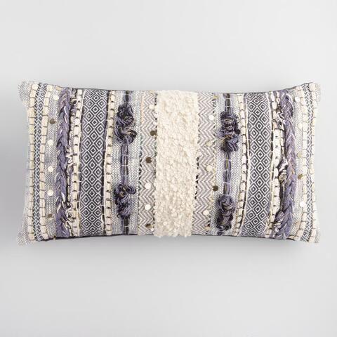Gray Moroccan Lumbar Pillow In 2019 Moroccan Home Decor