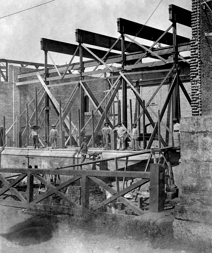 Insular Ice And Cold Storage Plant During Construction Manila Philippines 1901 1910