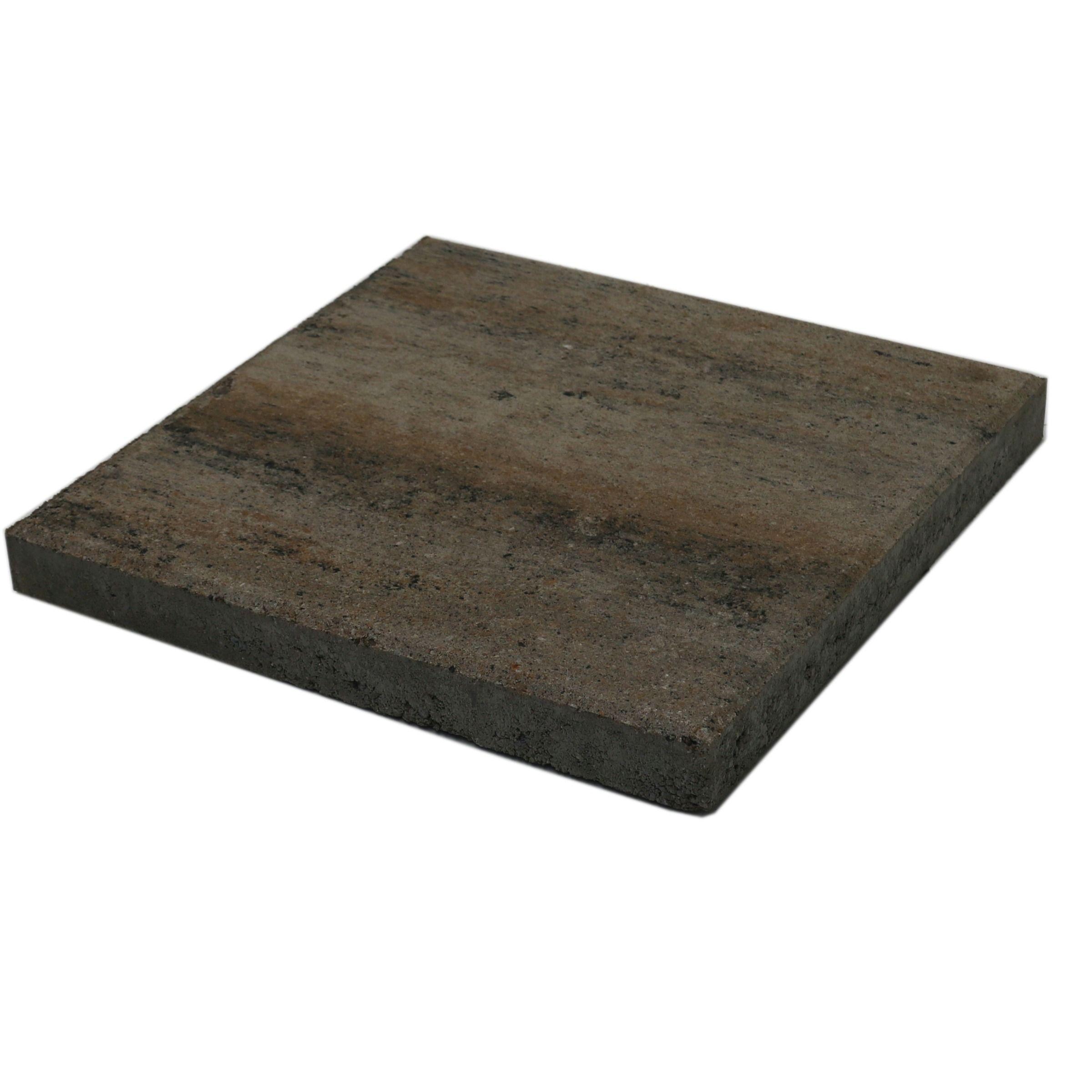 Terrastegels 40x40 Grijs.Terrastegel Beton Quadro Schelp Grijs Bruin 40x40 Cm 108