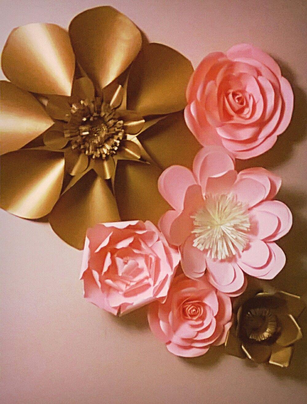 Flor gigante de papel color set