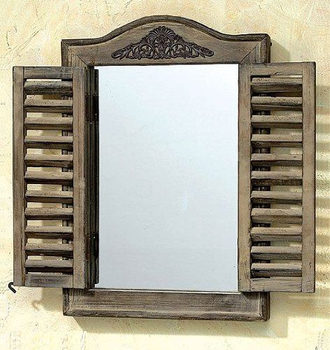 Schrank modern mit spiegel  SPIEGEL MIT KLAPPLADEN VINTAGE HANDARBEIT LANDHAUS NEU: Amazon.de ...